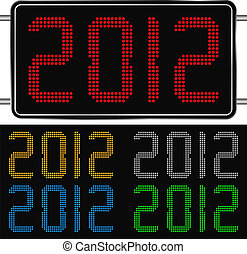 Vector digits of new year 2012