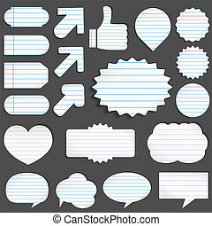 Paper objects - Vector set of paper objects