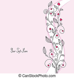 Floral background with copy space for text