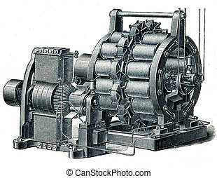 dynamo AC exciter Siemens - an illustration of the...