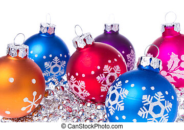 christmas balls with snowflake symbols - christmas balls...