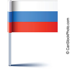 Russian flag - Vector illustration of national russian flag...