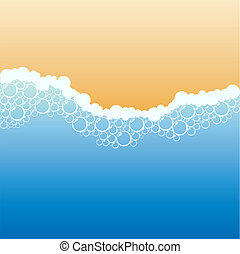 Coastline. - Coastline with foam. Vector illustration.