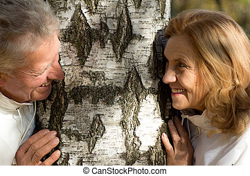 old people and tree