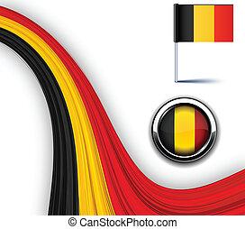 Belgian flag. - Vector illustration of national Belgian...