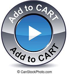 Add to cart round button. - Add to cart round metallic...