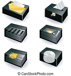 collection of boxes - document icon