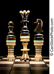 Revolution - Chessmen on a chess board. A dark art...