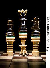 Revolution - Chessmen on a chess board. A dark art...