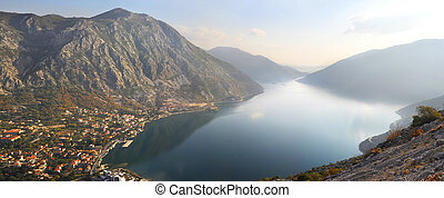 Montenegro landscape - Beautiful landscape with sea and...