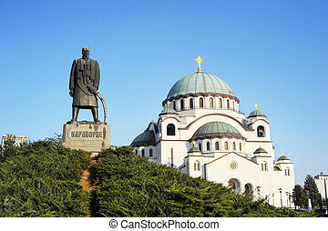 Monument commemorating Karageorge Petrovitch in front of...