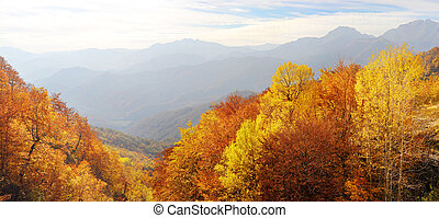 Balkan Mountains in the fall - xxxl panorama of a Balkan...