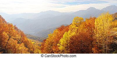balkanique, montagnes, Automne