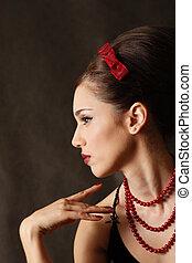 Beautiful girl - Portrait of the beautiful brunette in...