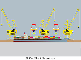 Container Ship - A vector image of a Container Ship...
