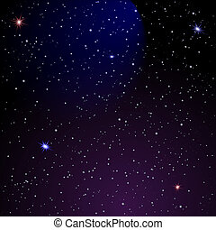 Space background - Abstract Space background. Vector...
