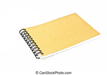 Recycle paper notebook isolate on white background 2