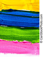 Hand paint color brush on paper for background