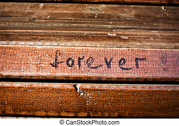 forever - word forever written with a black marker on the...