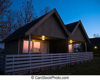 Beautiful wooden hut cabin