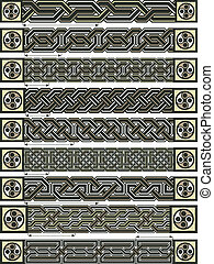 Celtic style - Elements of design in Celtic style in a...