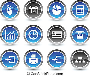 Office icon set. Vector illustration.