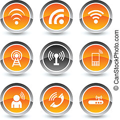 Communication icon set.
