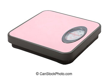 Weighing scales over white - Weighing scales Isolated over...