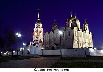 Assumption cathedral at Vladimir in night - Assumption...