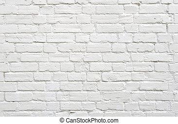 branca, tijolo, parede