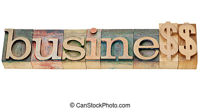 profitable business - business word spelled with dollar...