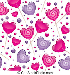 lollipops seamless pattern, valentines day illustration,...
