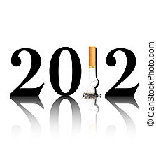 Quit smoking 2012 - New Year's resolution Quit Smoking...