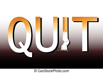 Quit smoking - New Years resolution Quit Smoking concept...