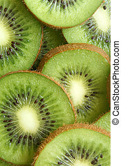 Kiwi fruit slices, for backgrounds or textures