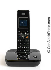Dect cordless phone on a white background