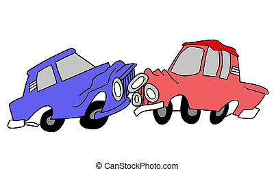 drawing of the cars on white background