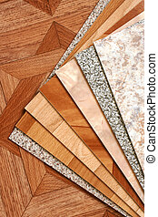 Collection natural linoleum - The samples of collection...