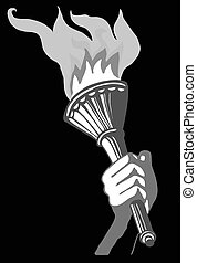 drawing of the torchlight in hand