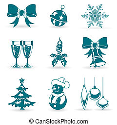 Christmas Icons - Collect Christmas Icons with Bell, Tree,...