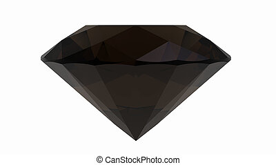 Smoky quartz jewel isolated on white background, 3d render