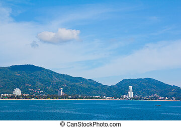 View of Patong City, in South of Thailand