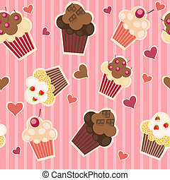 seamless cake pattern. Vector illustration
