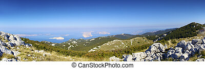 Panorama Velebit wilderness