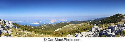 Panorama Velebit wilderness