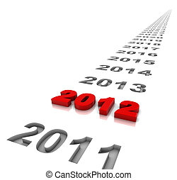 New year 2012 - The year 2012 and the years ahead. Part of a...