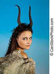 Goat woman - Capricorn or Goat woman, this photo is part of...