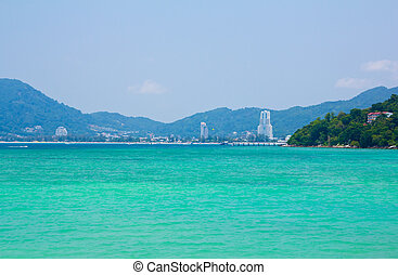 View of Patong City, Phuet South of Thailand
