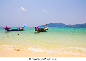 Long Tail Boats, in Patong Beach , South of Thailand2