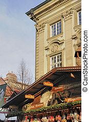 medieval market, esslingen - foreshorthening of old houses...